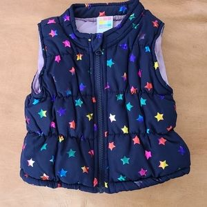 Colorful star puffer vest